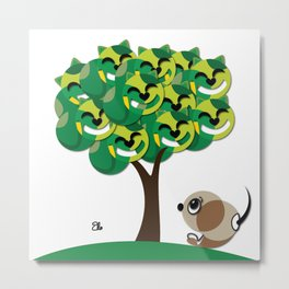Cat Tree Metal Print