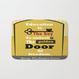 Education The golden door of freedom George Washington Quote Bath Mat