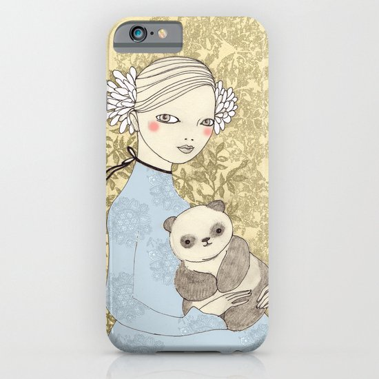 Girl with Panda iPhone & iPod Case