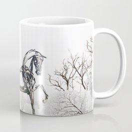 Snowy Horse Coffee Mug