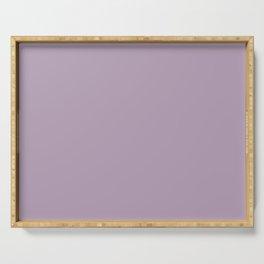 Dark Chalky Pastel Purple Serving Tray