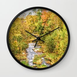 A New Hampshire Autumn Wall Clock