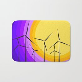 Windmills - Sunset Bath Mat