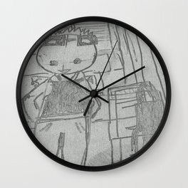 Grocery Boy  at home Wall Clock