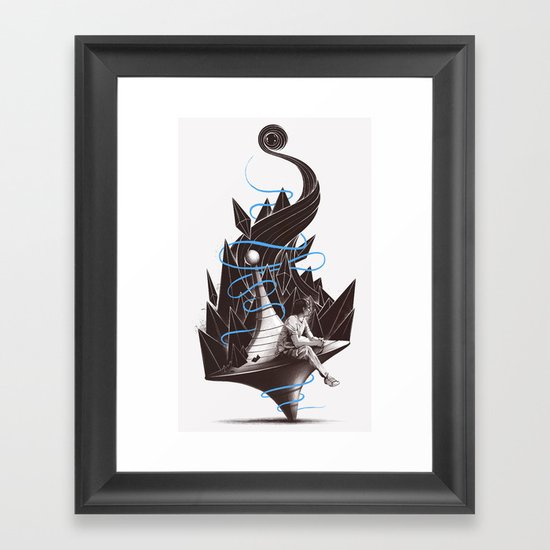Trying To Find A Balance Framed Art Print