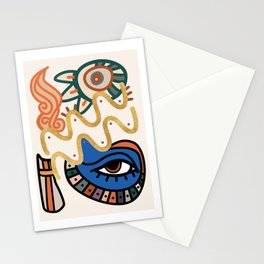 Aquarius - Abstract Zodiac Sign Stationery Cards