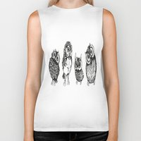 owls Biker Tanks featuring OWLS by Acus