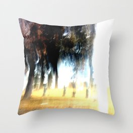 Ghost Forest Throw Pillow