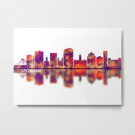 Spokane Washington Skyline Metal Print