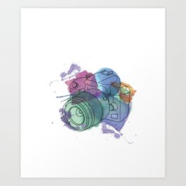 Camera Capturing Light Art Print