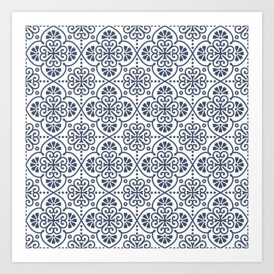 Pattern Portugal Art Print