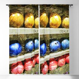 Bowling  print work art 1 Blackout Curtain