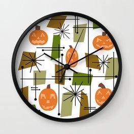 Halloween Mid Century Modern Wall Clock