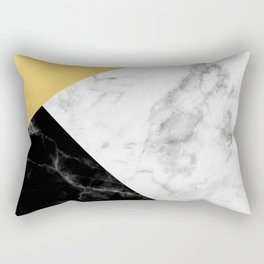 Marble & Gold Collage Rectangular Pillow