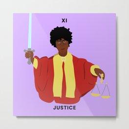 Shirley Chisholm - Black Girl Magic Justice Tarot Card Metal Print