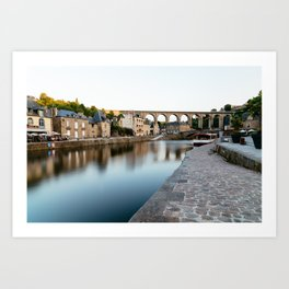 The Habour of  Dinan in France Art Print
