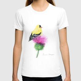Little Goldfinch by Teresa Thompson T-shirt