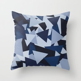Points of Blue Throw Pillow