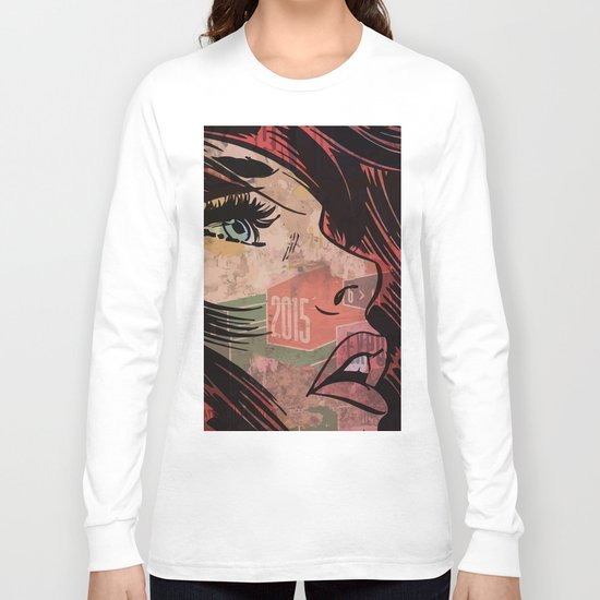 Comic girl affiche poster Long Sleeve T-shirt