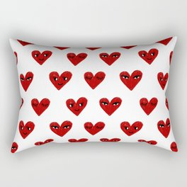 Heart love valentines day gifts hearts with faces cute valentine Rectangular Pillow