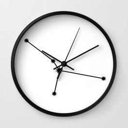 Cancer Astrology Star Sign Minimal Wall Clock