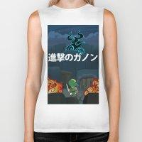 shingeki no kyojin Biker Tanks featuring Shingeki No Ganon by Yoash