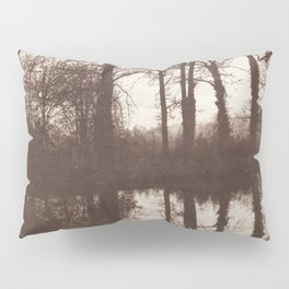 Winter Trees Reflected in a Pond Pillow Sham