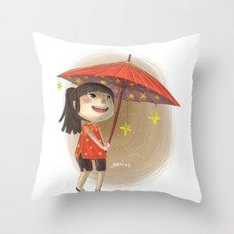 umbrella star Throw Pillow