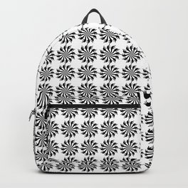 Background abstract, black-and-white pattern, vector, circle texture design. Backpack