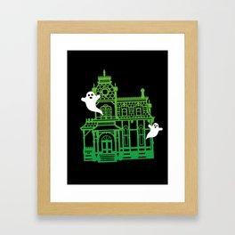 Haunted Victorian House Framed Art Print