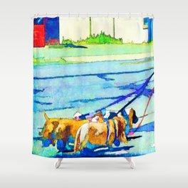 Florence Oregon - Dog Walker Shower Curtain