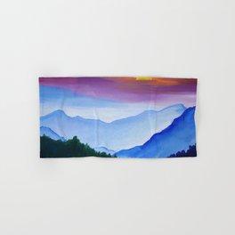 Smokey Mountain Sunset Hand & Bath Towel