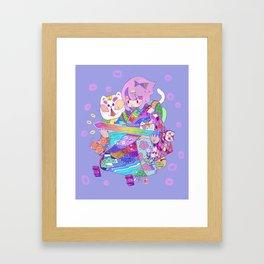 Rainbow sword -Nekoneko Framed Art Print