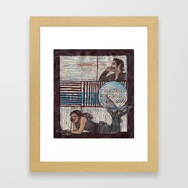 Don't Hang Up! It's Just Getting Serious. Framed Art Print