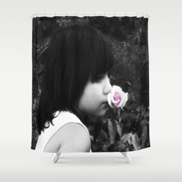Rose Garden and a Child Shower Curtain
