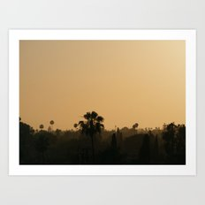 Anaheim Sunset Art Print