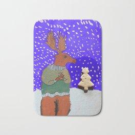 Moose with Tea Bath Mat