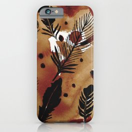 Ink Feathers and Tea iPhone Case