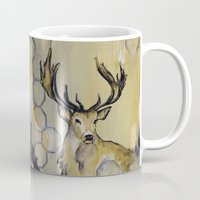 stag Mugs featuring Stag by Sonal Nathwani