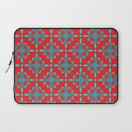 Fleur de Lis - Red & Turquoise Laptop Sleeve