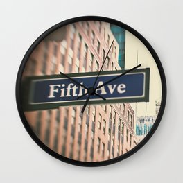 5th Avenue Wall Clock