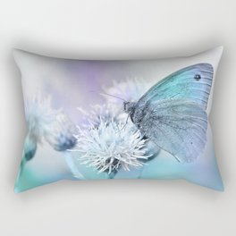 Butterfly blue 71 Rectangular Pillow