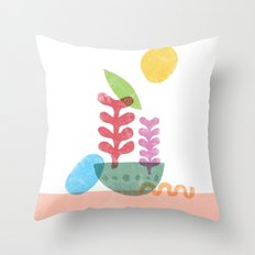 Still Life with Egg & Worm Throw Pillow