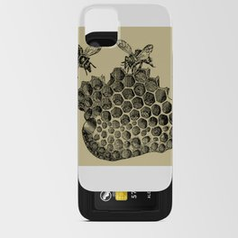 Vintage Bee & Honeycomb iPhone Card Case