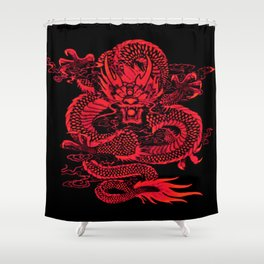 Epic Dragon Red Shower Curtain