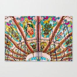 Victorian Carousel Swings Art Detail Canvas Print