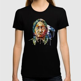 Sitting Bull watercolor painting T-shirt