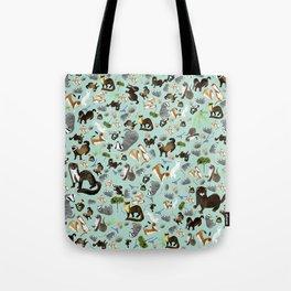 Mustelids from Spain pattern Tote Bag
