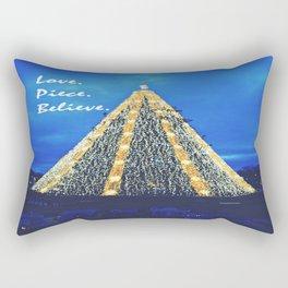 Love. Piece. Believe. Rectangular Pillow