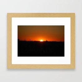 Istanbul Sunset Framed Art Print